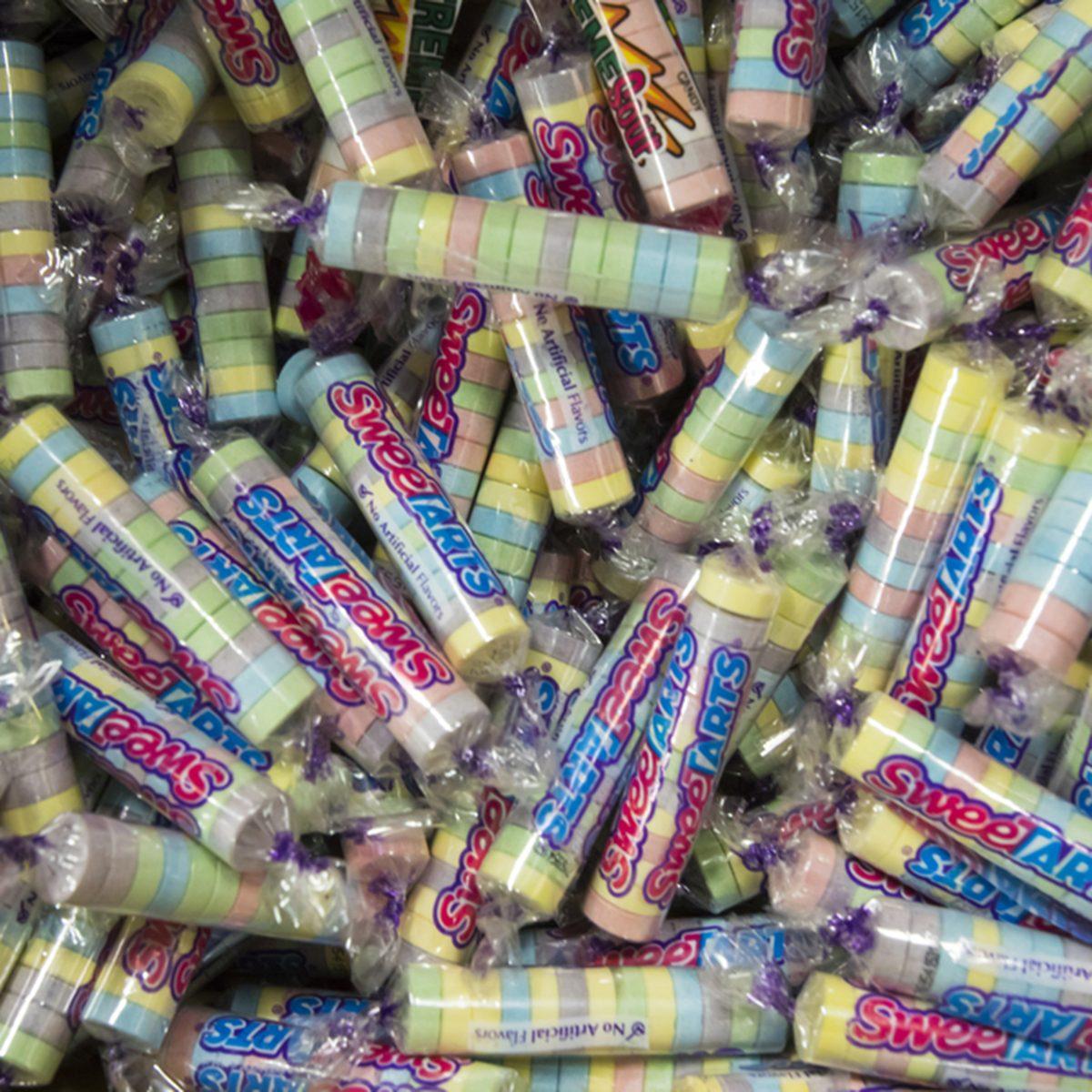 vintage sweet tarts candies close up