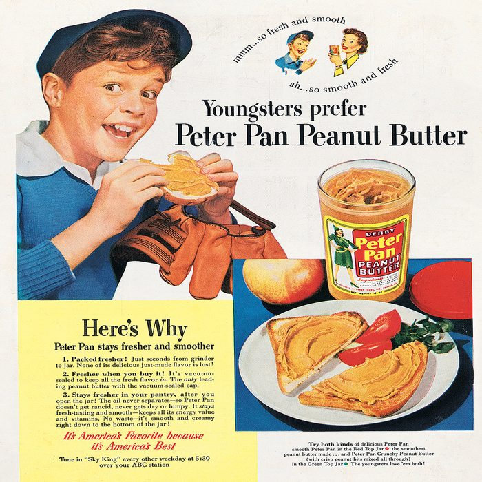 vintage ad for peter pan peanut butter