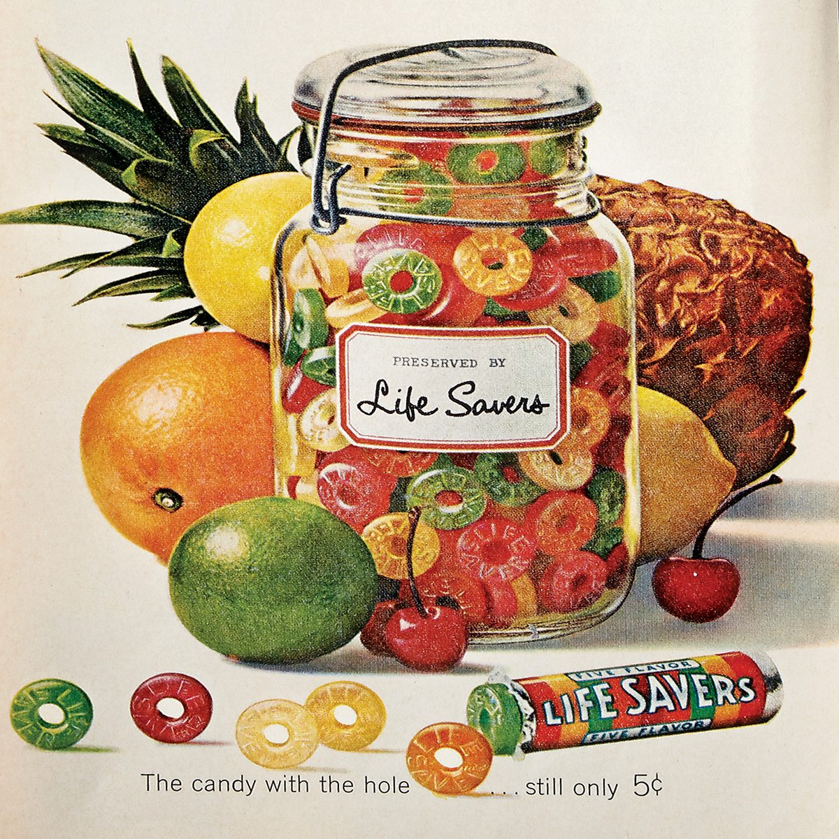 vintage ad for life savers candy