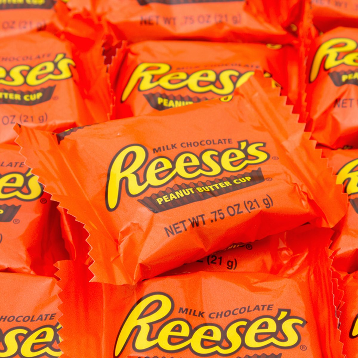 Reese's Peanut Butter Cup Candy Background