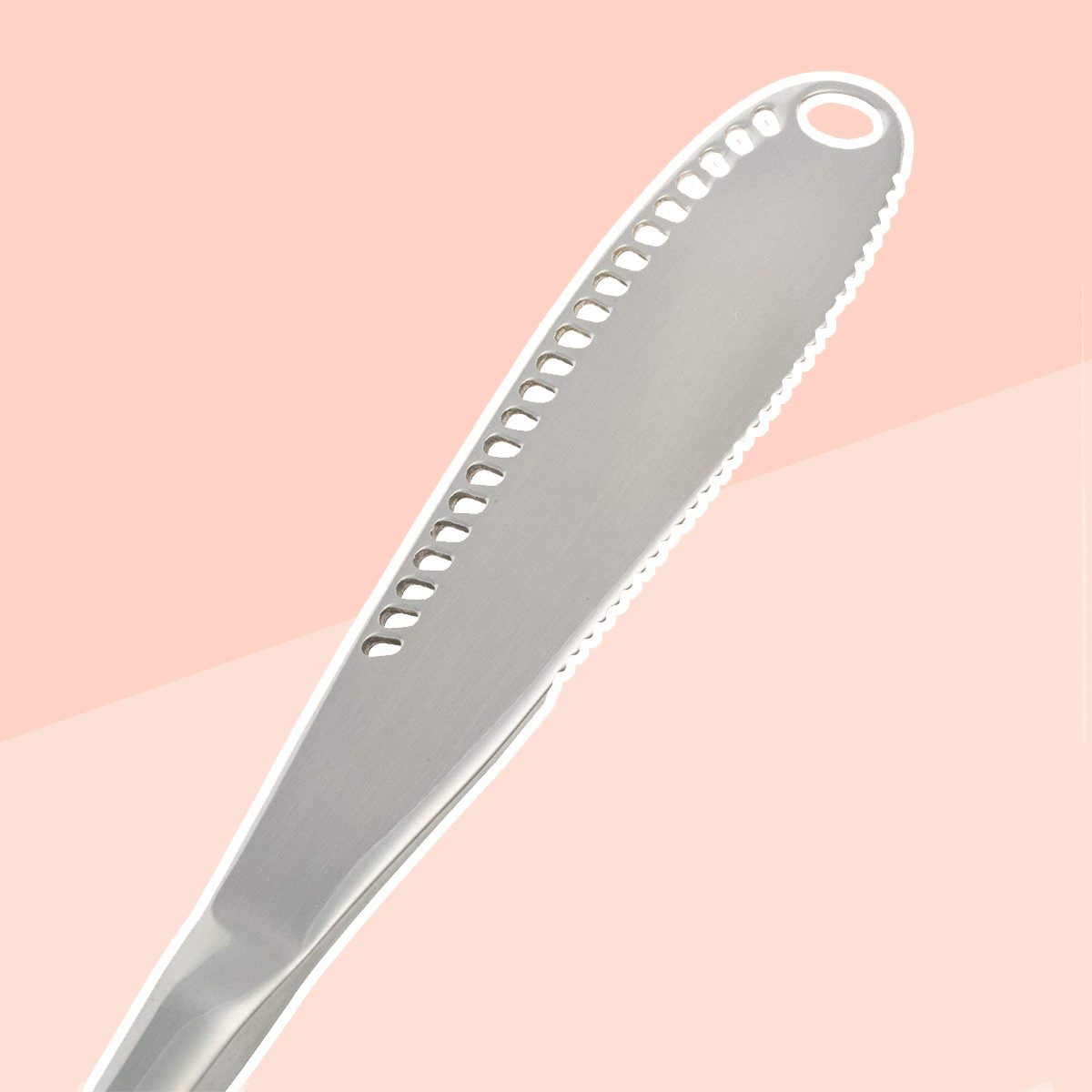 Stainless Steel Butter Spreader Knife - 3 in 1 Curler, Spreader and Slicer Butter Knife with Serrated Edge - Set of 2 Units