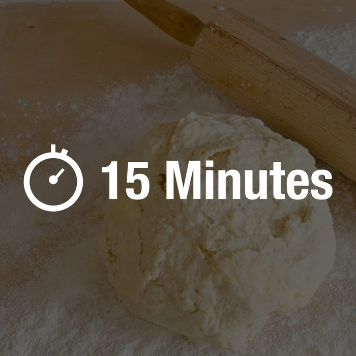 Raw dough for biscuits