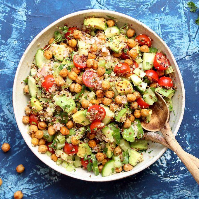 Avocados quinoa salad