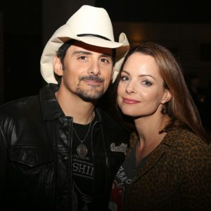 From left, Brad Paisley and Kimberly Williams-Paisley at the opening of Brad Paisley's exhibit