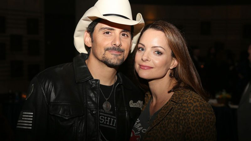 "From left, Brad Paisley and Kimberly Williams-Paisley at the opening of Brad Paisley's exhibit ""Diary of A Player"" at the Country Music Hall of Fame and Museum, in Nashville, Tenn"