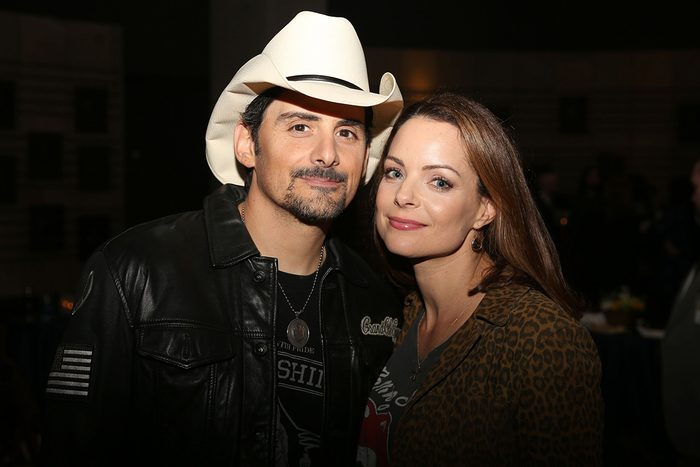 """From left, Brad Paisley and Kimberly Williams-Paisley at the opening of Brad Paisley's exhibit """"Diary of A Player"""" at the Country Music Hall of Fame and Museum, in Nashville, Tenn"""