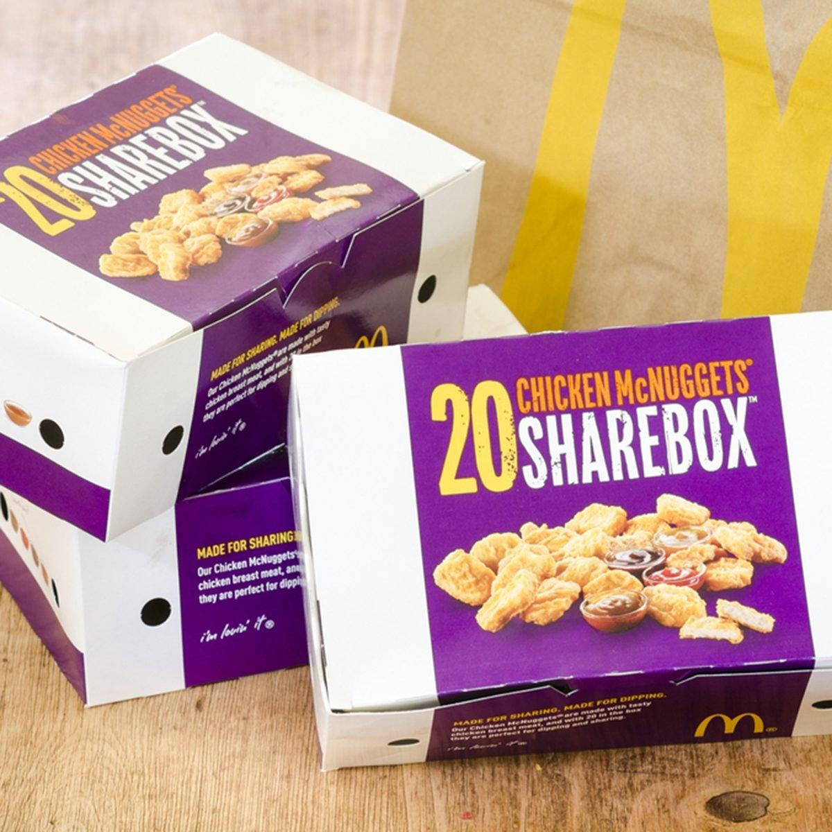 Box of McDonald's Chicken McNuggets