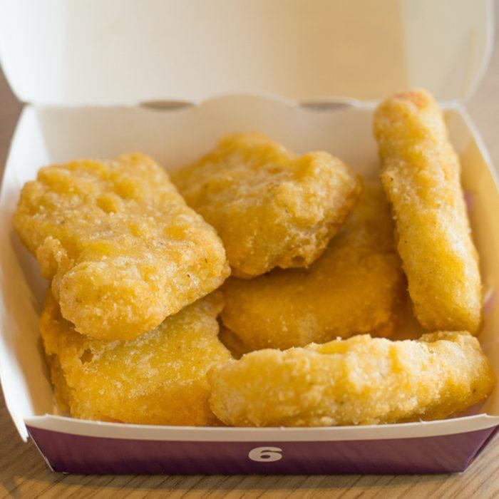 McDonald's Chicken McNuggets in paper box.