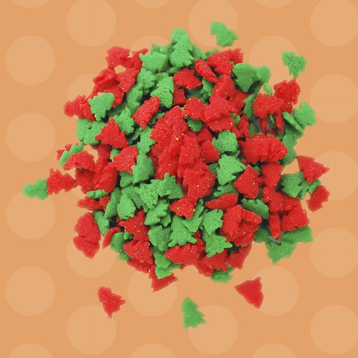 Christmas Sprinkles Red and Green Trees