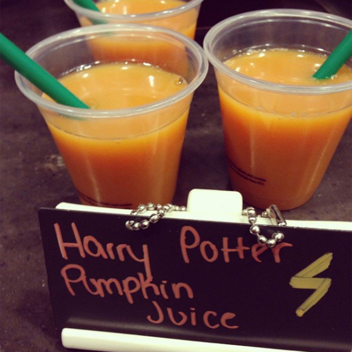 Harry Potter pumpkin juice
