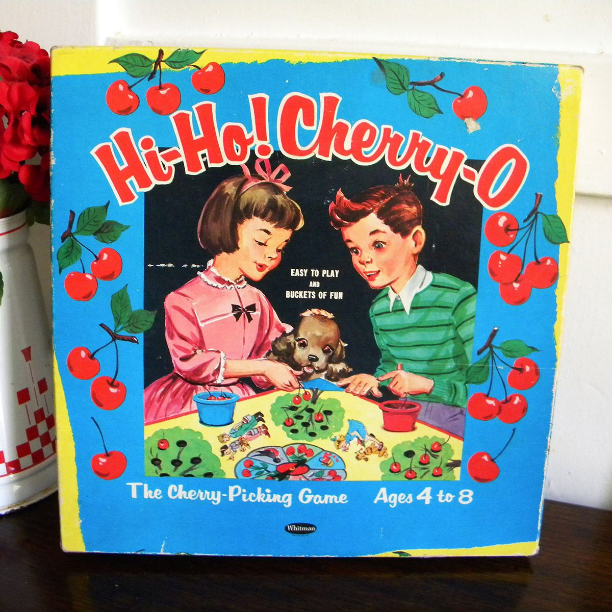 Vintage 1960 Hi Ho Cherry-O Game Whitman Childrens Classic Board Game Hi Ho Cherry O