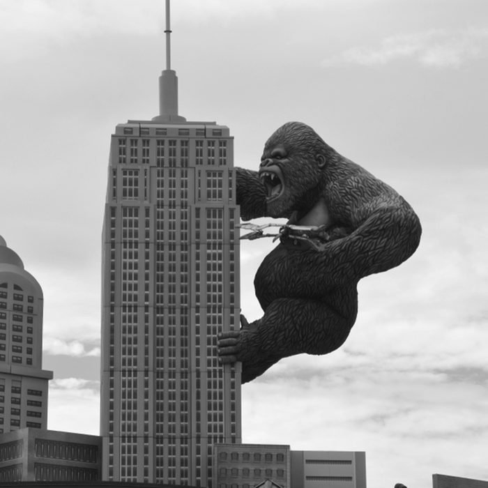 Giant King Kong on Empire State Building in Hollywood Wax Museum Entertainment Center