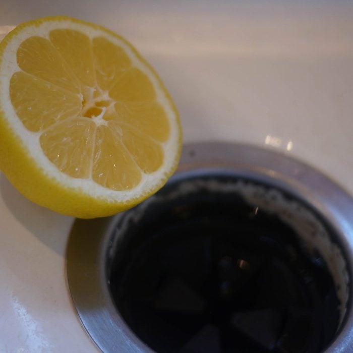 Lemon and garbage disposal