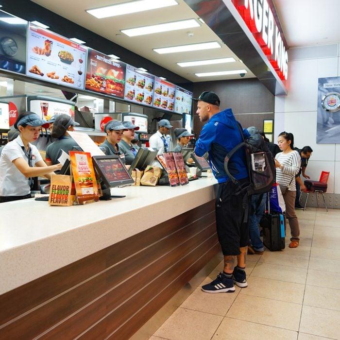 Burger King restaurant at Dubai International Airport.