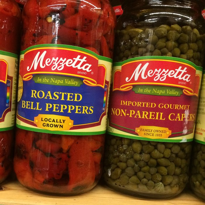 Capers and roasted red peppers at World Market