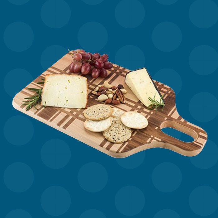 Foster & Rye 5705 Beech Wood Plaid Chopping Cheese Board