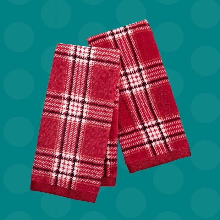 Plaid Hand Towels