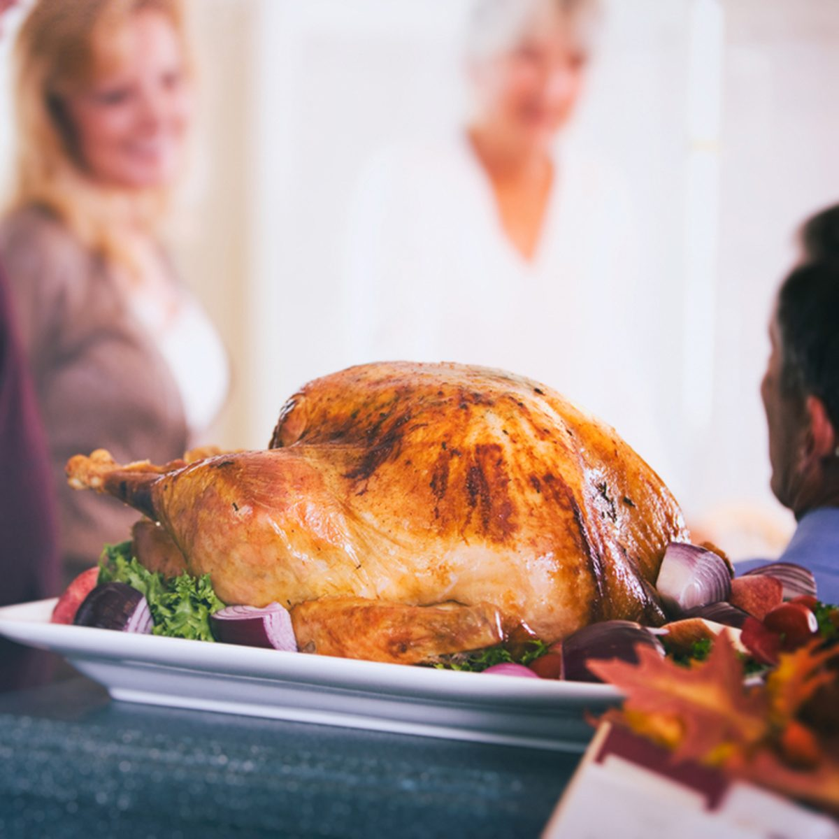 Thanksgiving: Roasted Holiday Turkey Sits And Cools Before Meal