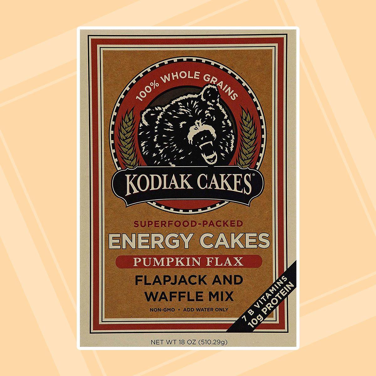 Kodiak Cakes Pumpkin Flax Energy Cakes superfood Protein Packed All Natural, Non GMO Protein Pancake, Flapjack & Waffle Mix 18 oz