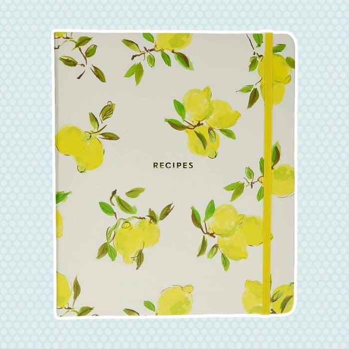 Kate Spade New York 173533 Lemon Recipe Book, Bright Yellow