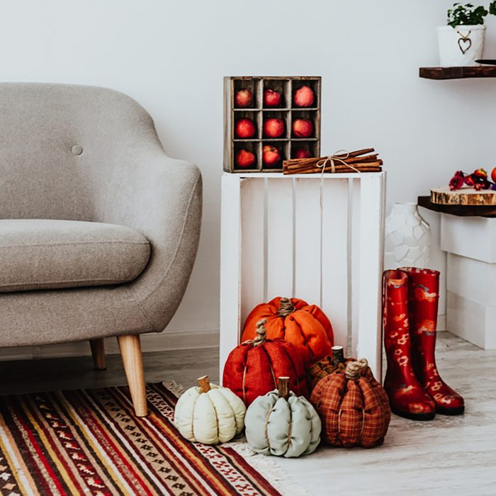 Cozy modern home with decor inspired by autumn.