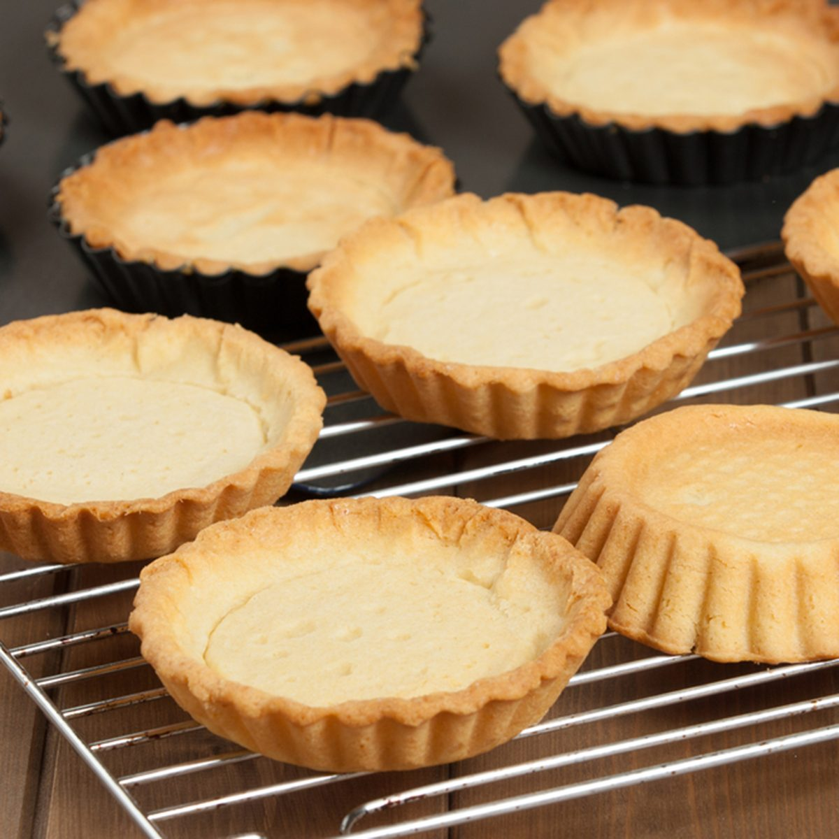 Cooking Process Of Tartlets. Baked Shortcrust Pastry; Shutterstock ID 603281093; Job (TFH, TOH, RD, BNB, CWM, CM): Taste of Home