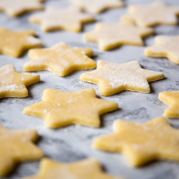 Christmas cookies for baking.
