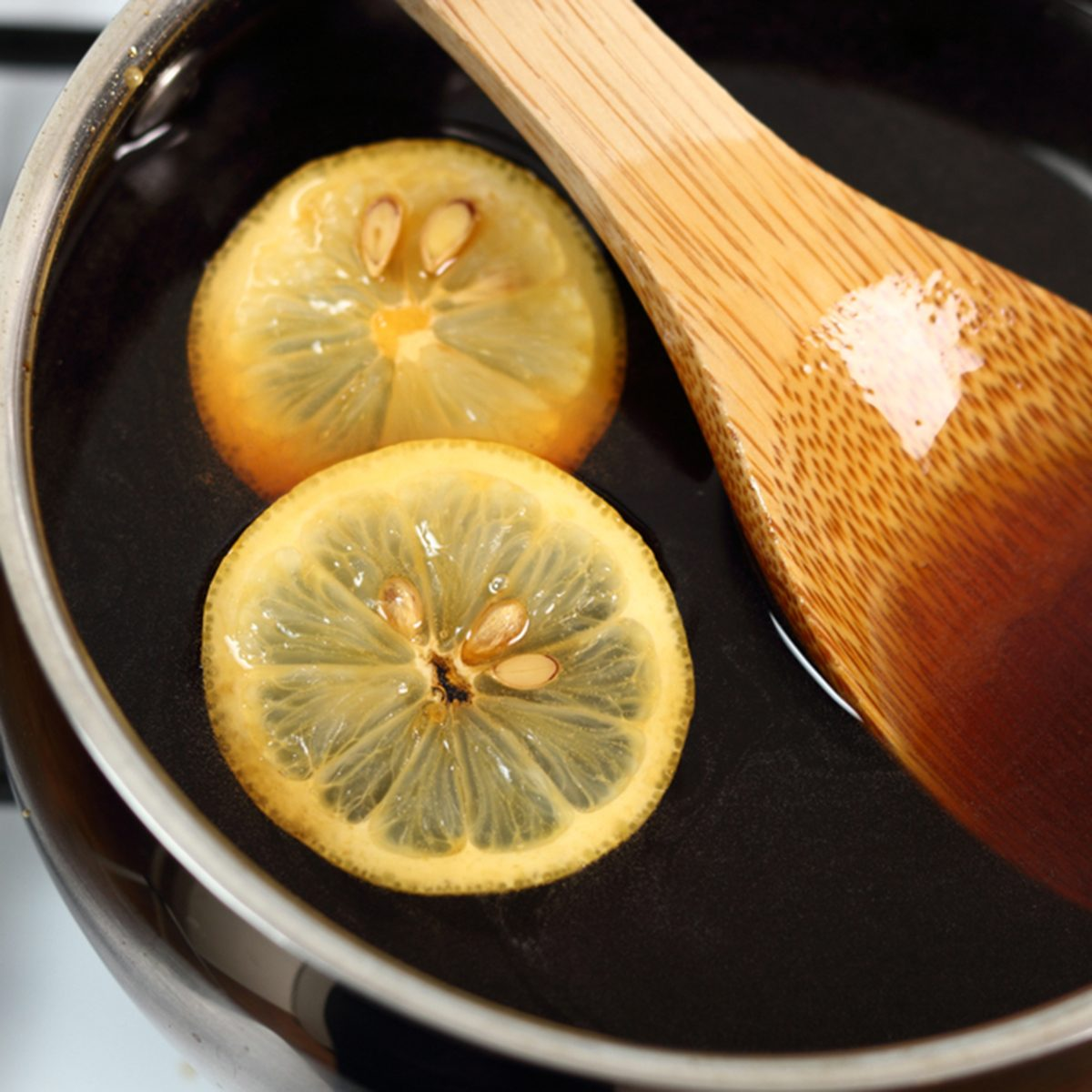 Syrup and Lemon Slices.