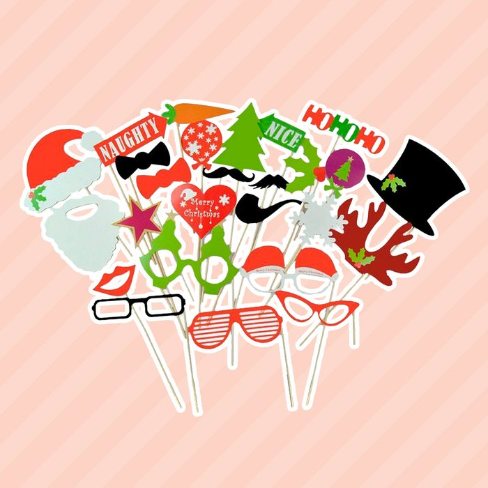 27pcs Funny Christmas Photo Booth Props on Stick