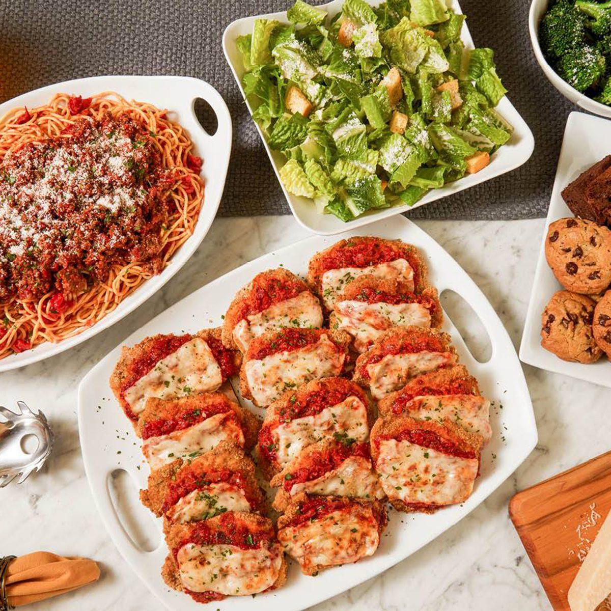 Buca di Beppo's dinner spread