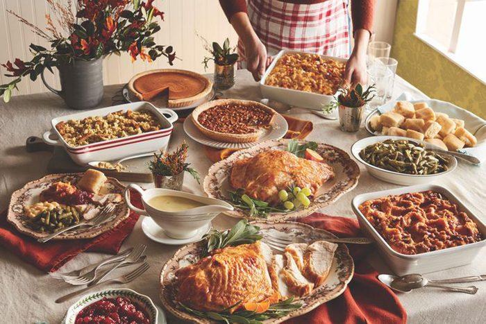 Cracker Barrel Thanksgiving spread