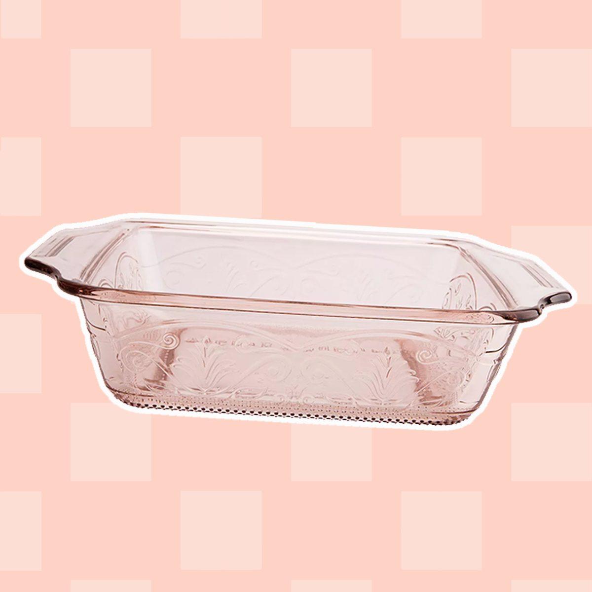 """Anchor Hocking Laurel 8"""" Rosewater Cake Dish"""