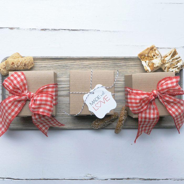 dress up a plain brown box, cookie packaging idea