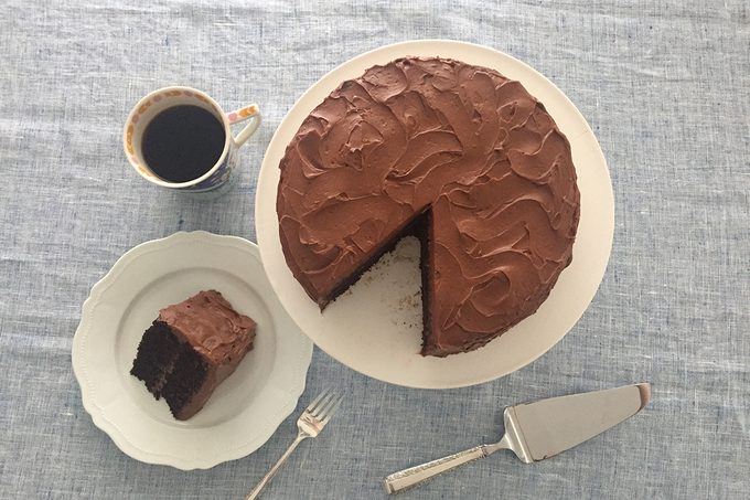 we tried Ina Garten's chocolate cake