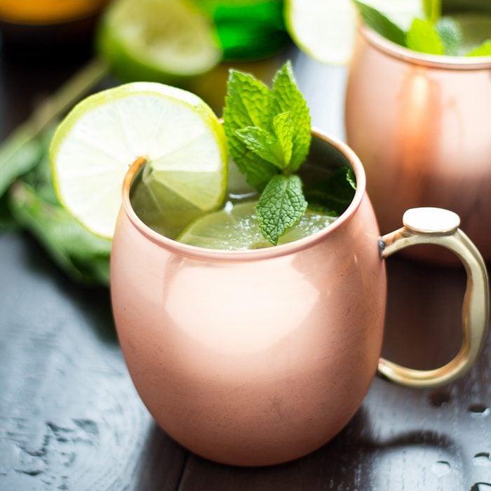 Irish Mule ginger beer drink