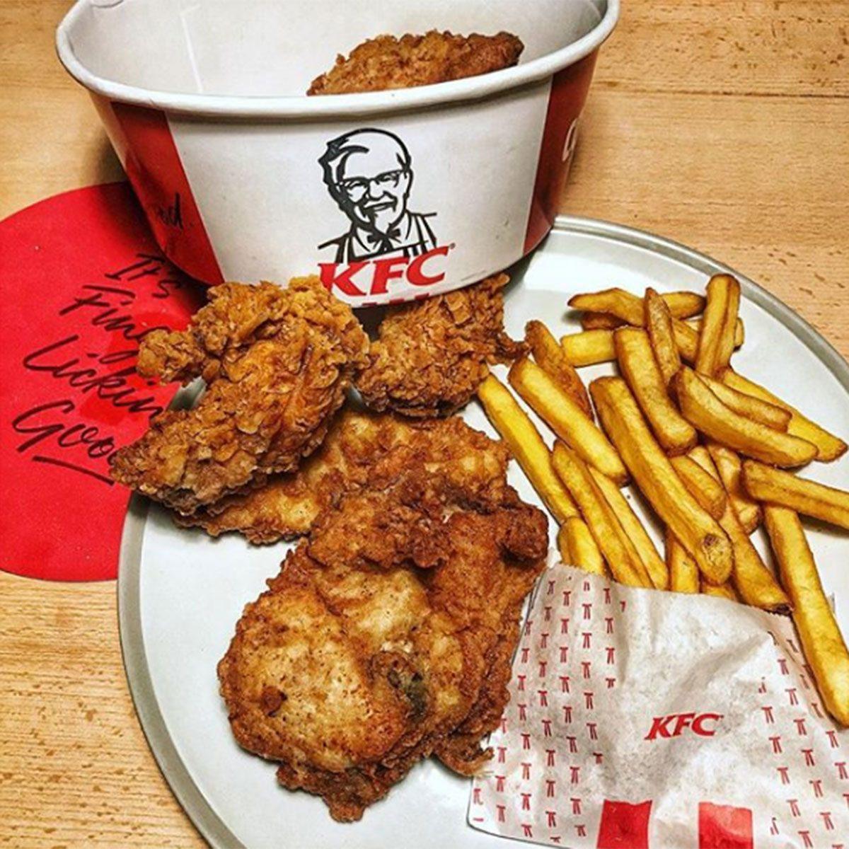 KFC chicken and fries