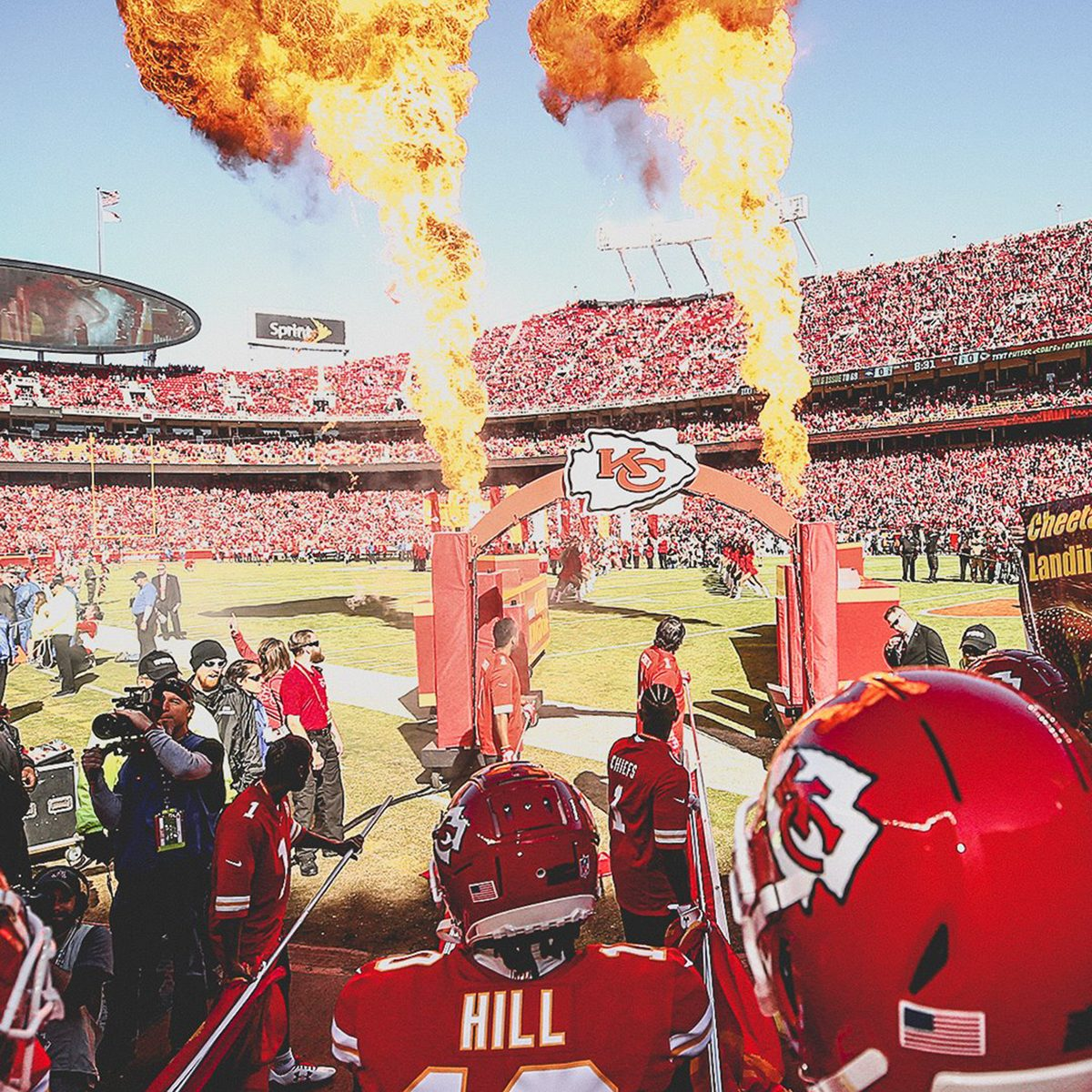 Kansas City Chiefs shooting off fire before game