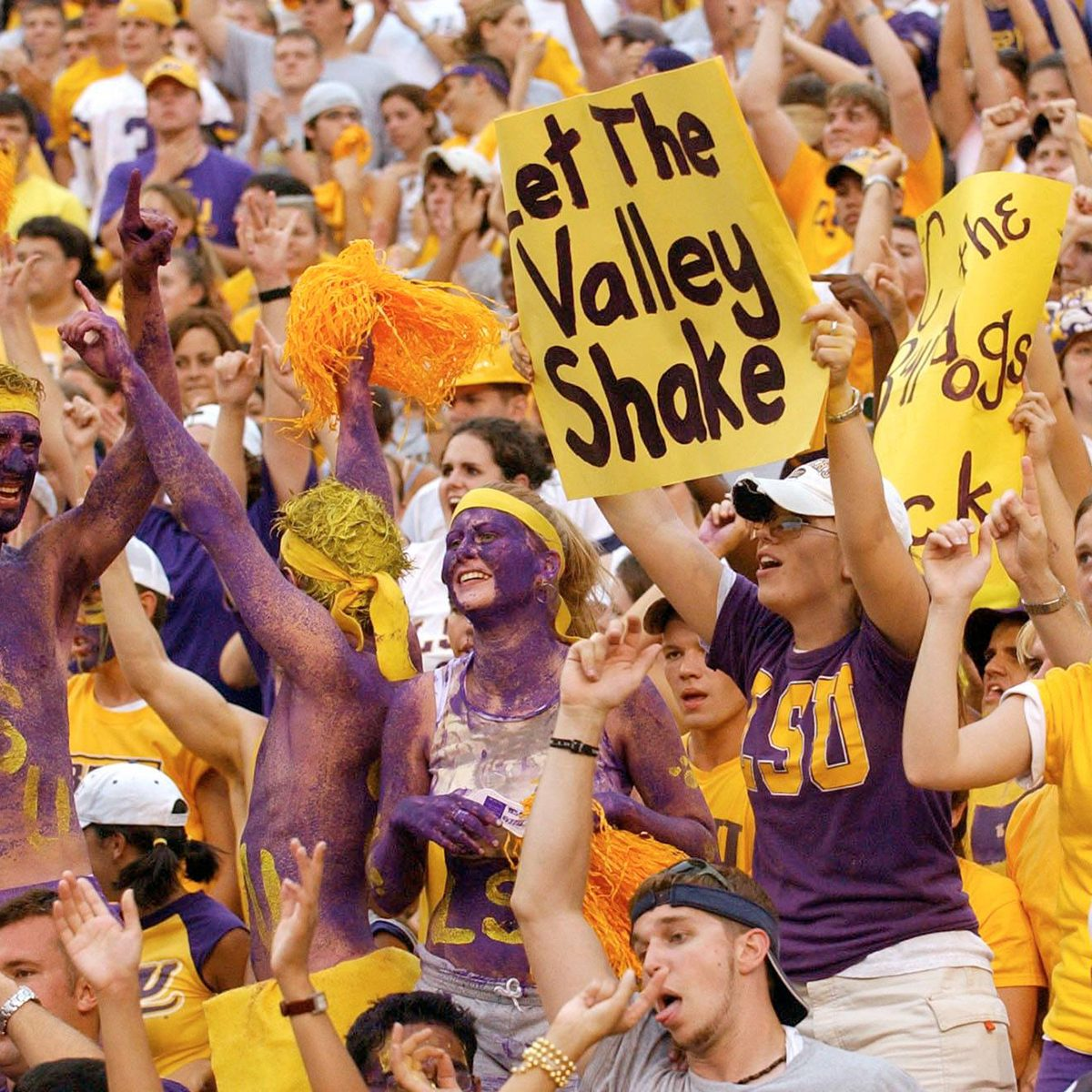 Louisiana State University fans