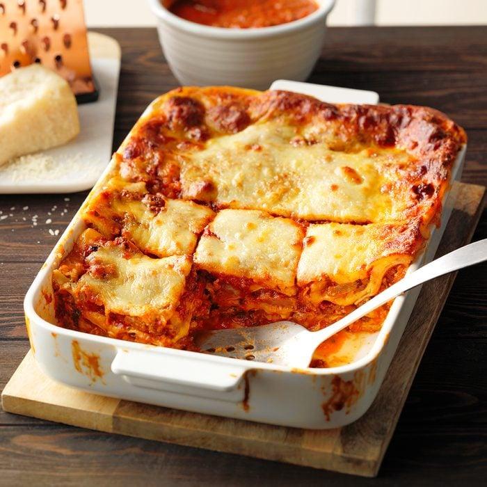 A big pan of The Best Ever Lasagna