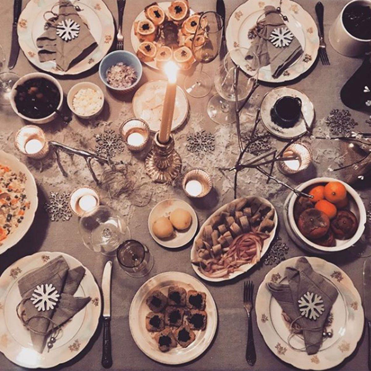 Lithuianian Christmas Eve dinner