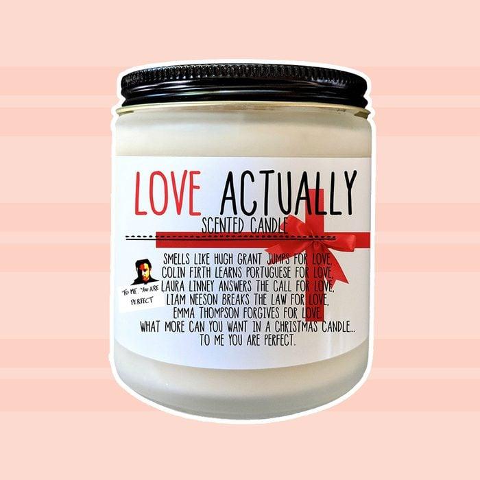 Love Actually Christmas Gift Christmas Candle