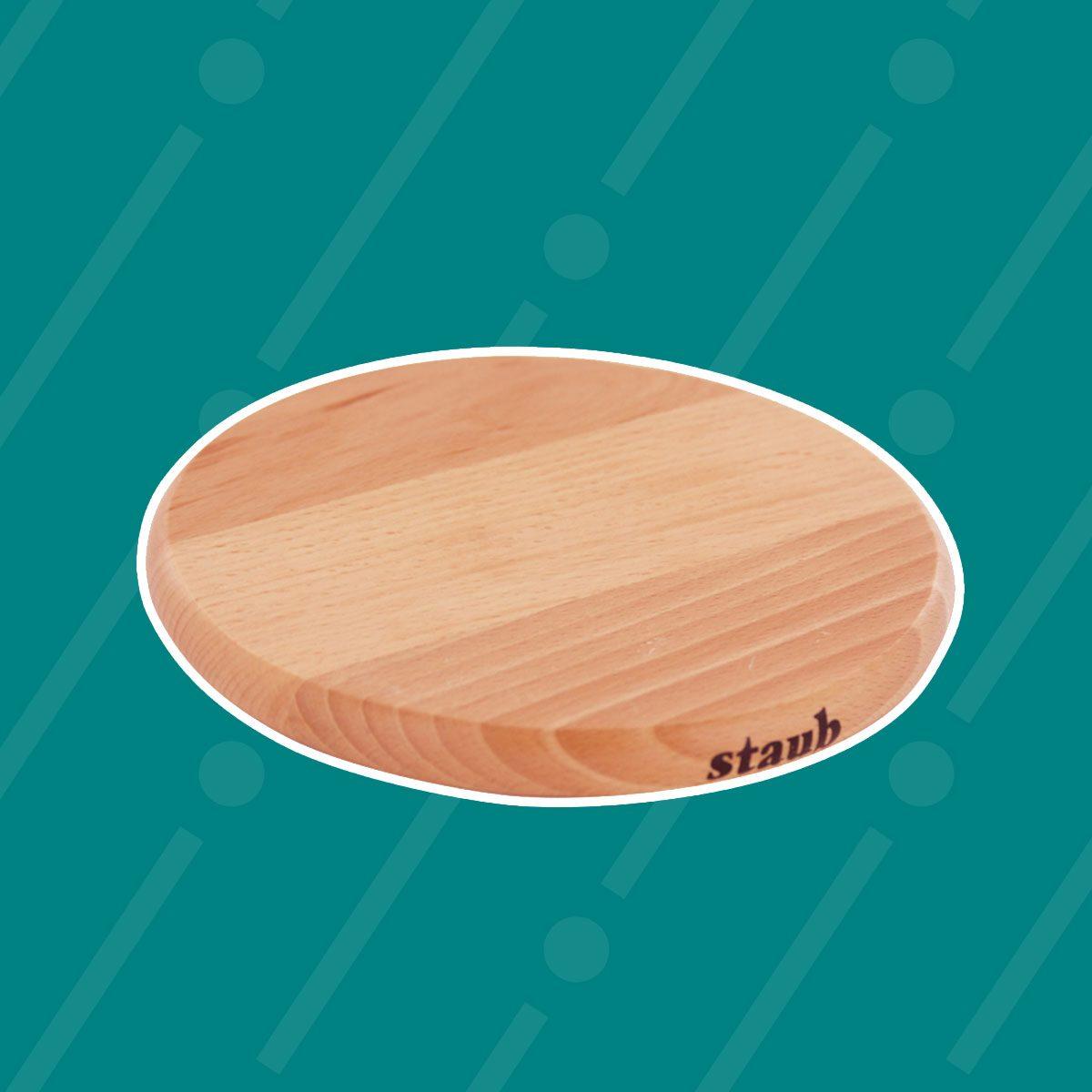 Staub Magnetic Round Wooden Trivet