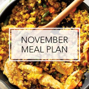 Your November Meal Plan