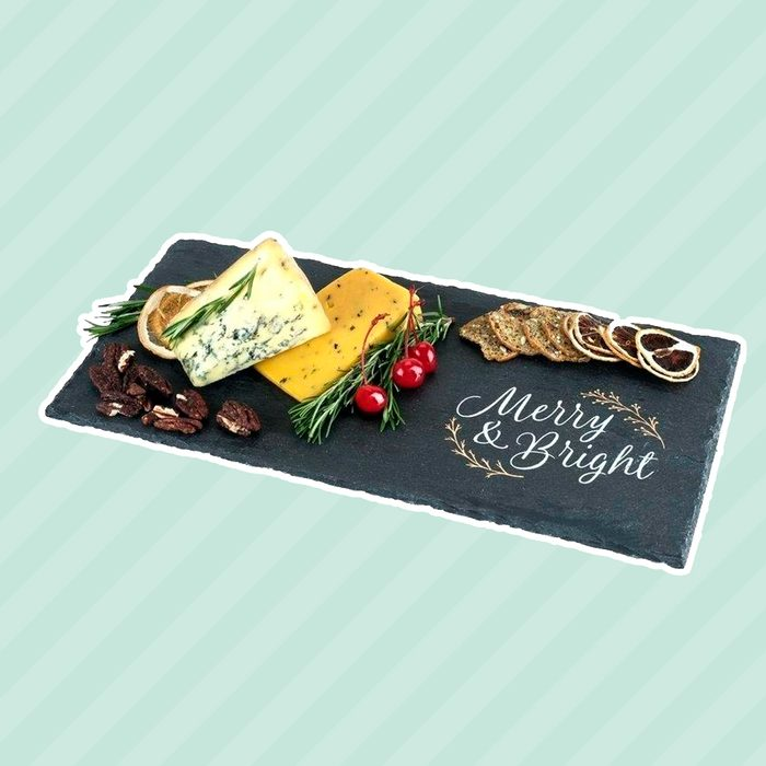 Rustic Holiday: Merry & Bright Slate Cheese Board by Twine
