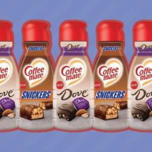 Snickers and Dove Coffee Creamers Are a Candy Lover's Dream