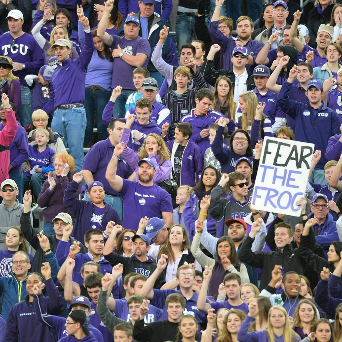 Texas Christian University fans at game