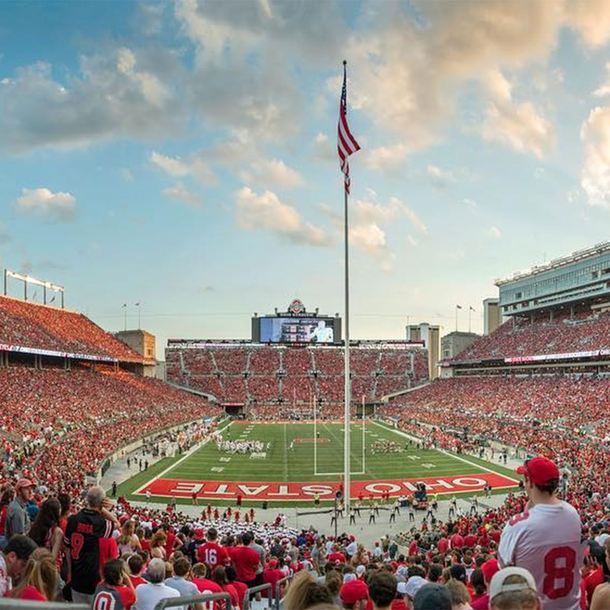 Ohio State University fans fill the stadium