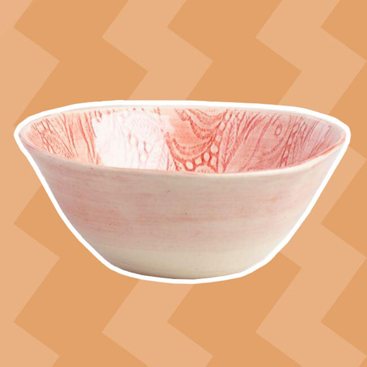 Wonki Ware Red Rosebud All Purpose Bowl