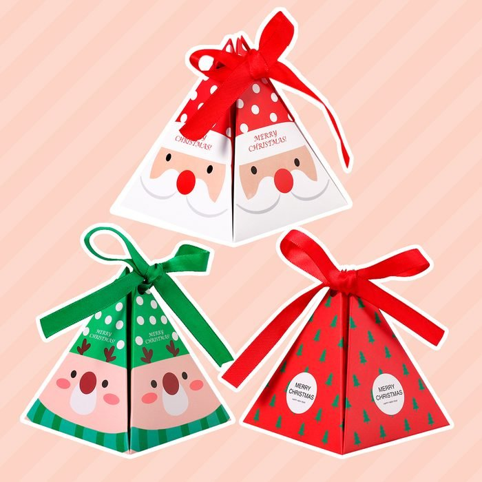 YeahiBaby 30pcs Christmas Paper Boxes Party Favors Gift Treats Candy Chocolate Goodies Boxes Party Supplies
