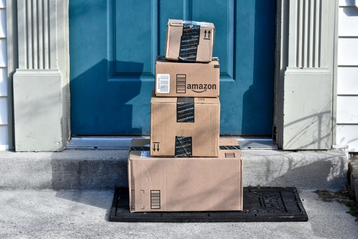 Image of an Amazon package.